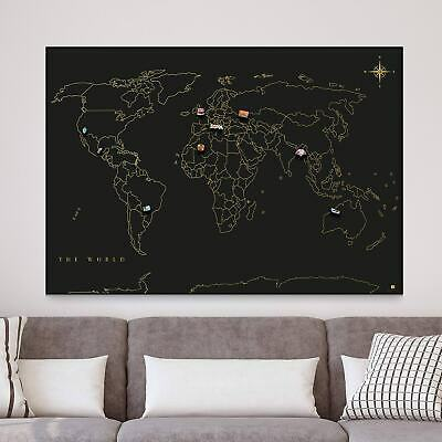 Magnetic Wall Travel Map • 20.89£