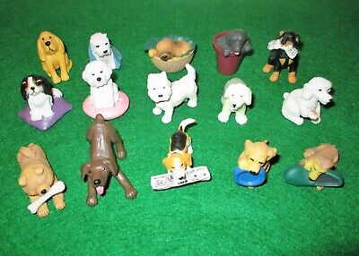 Collection Of 15 Small Plastic Dog Figures Job Lot • 1.30£