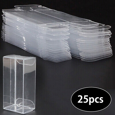 25Pcs 1:64 Clear Plastic Display Protector Case Box For Diecast Model Car Toys • 7.89£