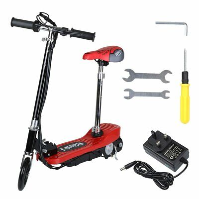 120 W Adult Electric Scooter 24V Battery Motor Scooter Range Folding With Seat • 86£