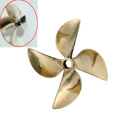 6717 4 Blade LH Copper Prop Propeller Dia 61mm P1.7 For 1/4'' Shaft RC Boat  • 15.92£