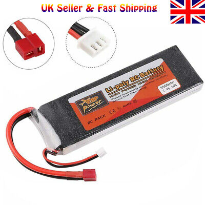 ZOP Power 5500mAh 2S LiPo Battery 7.4V 60C T Plug For RC Car Airplane Helicopter • 20.99£