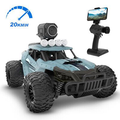 DEERC 2.4G RC Car Monster Truck Off-Road Vehicle 20KM/H With HD Camera For Kids • 49.99£