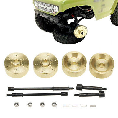 For Axial SCX24 90081 RC Crawler Car Replacement Brass Hex Adapters Wheel Axle • 11.39£