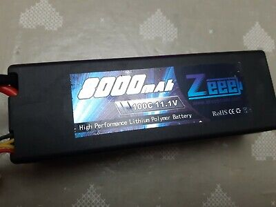 Zeee 3S 11.1V 100C 8000mAh Hard Case RC Lipo Battery With Deans T Plug • 40£