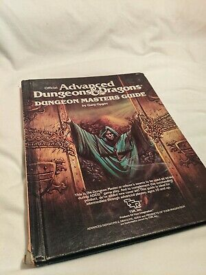 Advanced Dungeons & Dragons Dungeons Masters Guide Hardback Gary Gygax • 9.99£