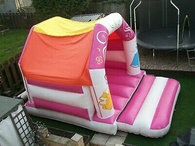 12' X 15' Commercial Pink & White Princess Bouncy Castle With Roof & Blower Fan • 400£