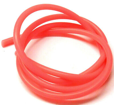 Light Red Silicone RC Nitro Glow Engine Fuel Line Tube Pipe 1 Meter 1/10 Scale • 2.45£