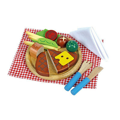 Estia 640044 Steak Menu For Cutting With Side Dish Kitchen Wooden Toy Shop New • 21.69£