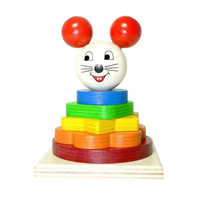 Holzspielwaren-Dresden 91118 Stacking Tower   Mouse   Pegging Game From • 11.18£