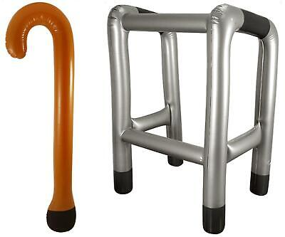 Inflatable Walking Stick & Zimmer Frame Zimmerframe Novelty Party Blow Up • 6.39£