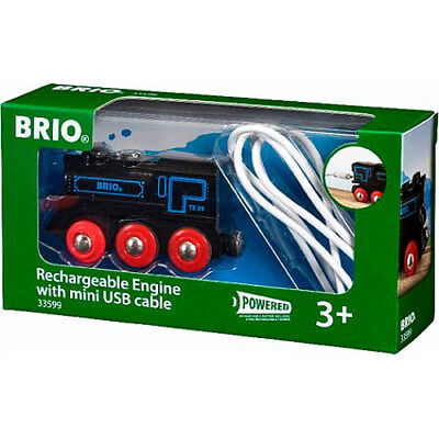 BRIO 33599 Rechargeable Engine With Mini USB Cable For Wooden Train Set • 22.93£