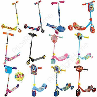 Kids Character Scooters My First Tri Folding - Toy Story Peppa Pig Disney Frozen • 24.39£