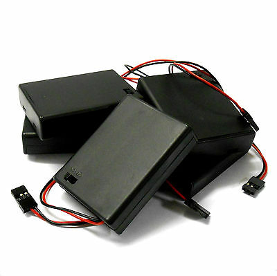 C1201-2x5 RC Battery Holder Case Box Pack 4 X AAA Compatible JR 3 Pin X 5 • 6.99£