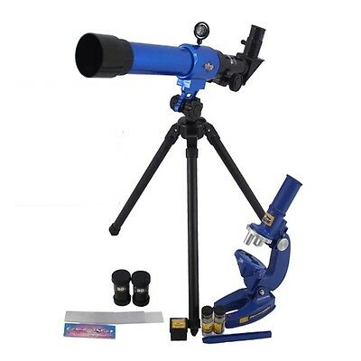 Childrens Science Microscope And Tripod Telescope Set Kids Astronomy Toy Gift  • 16.95£