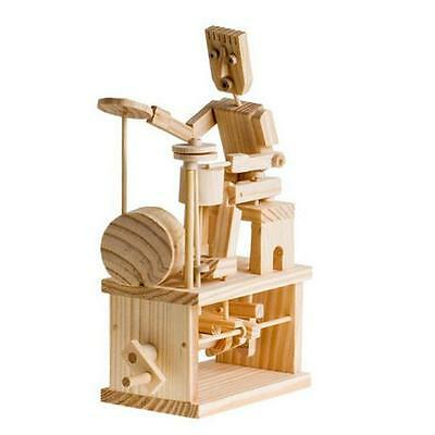 Timberkits Drummer Educational Timber Wood Automation Kit Drummer • 19.95£