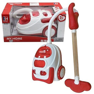 Kids Role Play Vacuum Cleaner Hoover Realistic Toy Red With Lights & Sounds 546 • 8.95£