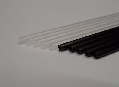 5x Choice Of New Clear Or Black Tamiya 30cm (Min) Aerial/Antenna Tube/Straw • 4.99£