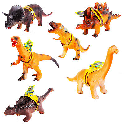 36cm Large Soft Rubber Foam Stuffed Dinosaur Toy Action Figures With Roar Sounds • 8.95£