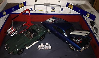 1/18 Scale Diorama Garage Hot Rod Style Branded Boxes #SET 5 • 5.95£