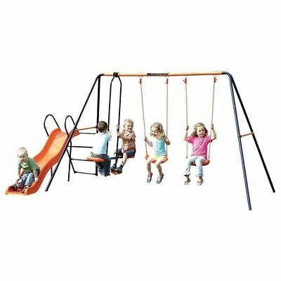 Hedstrom Europa Kids Garden Double Swing Glider & Slider Summer Playset Frame • 154.15£