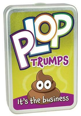 Cheatwell Games Plop Trumps Animal Poo Card Game Novelty Gift Kids Fun Tin Box • 5.99£