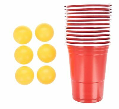 17pc Beer Pong Set Drinking Game Alcohol American Red Cup Beerpong Frat Party • 3.89£