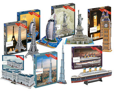 3D Puzzles Models Empire State Building Space Shuttle Eiffel Tower Of London • 9.97£