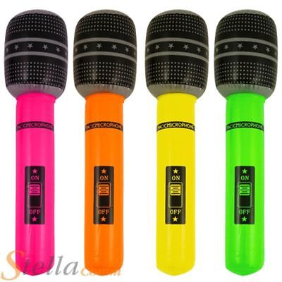 40cm Inflatable Microphone Blow Up Rock Roll Party 80s Fancy Dress Accessory • 1.85£