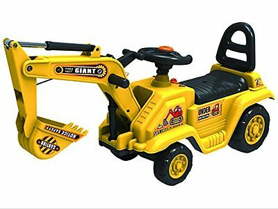 Childrens Large Excavator Yellow Ride On Digger Jcb Toy Push N Pull Truck Yd1007 • 29.99£