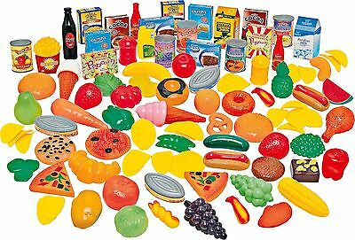 114 Piece Giant Play Food Set Fruit Vegetable Cakes Grocer Shop Toy Role Play  • 13.95£