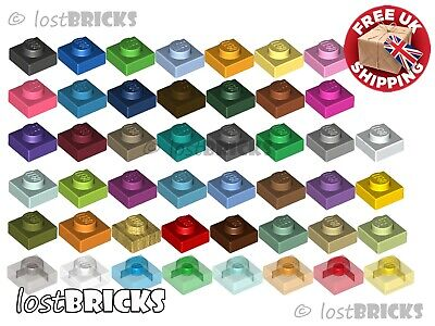 10 Pack Of NEW LEGO Plates 1x1 (Part 3024) + SELECT COLOUR ++ FREE POSTAGE • 1.75£