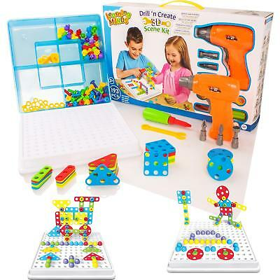 Drill 'n Create Model Building Construction Kit Childrens Tools & Nuts Toy Set • 11.99£