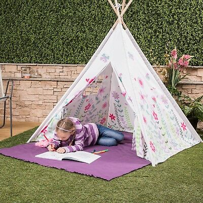 Kids Play Tent Teepee Indian Wigwam Style With Matching Bag - Choice Of Colours • 29.99£