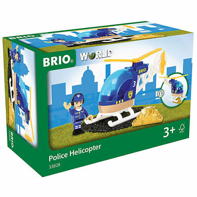 BRIO World 33828 Police Helicopter For Wooden Train Set • 12.79£