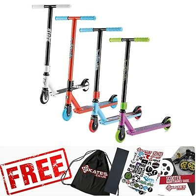 Xootz Complete Pro Childrens Aluminium Stunt Scooters - White/Red/Blue/Purple • 34.95£
