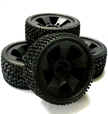 BS502-001 1/5 Scale Electric Monster Truck Wheels Off Road Tyres Tires 4 Black • 31.34£