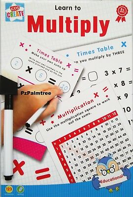 Educational Wipe Clean Learn To Multiply Times Tables Book Numbers Worksheet • 2.49£