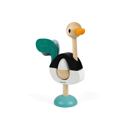Janod J08244 Stapeltier   Ostrich   Wood From 12 Months New! # • 18.62£