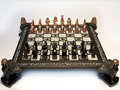 NEW IN BOX Veronese Egyptian Feature Chess Pieces Set & Sphinx Board  • 221.74£