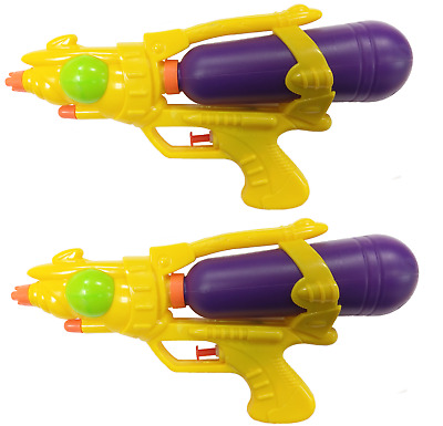 2 X Water Pistols 10  Super Shot Soakers Wet Gun Fight Cannon Beach Toys  714 • 4.49£