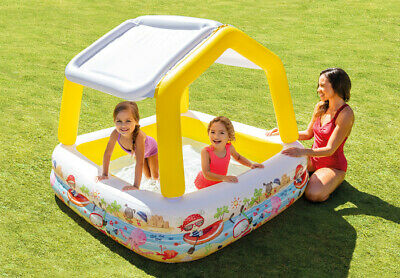 Intex 5ft 5' Foot Childrens Swimming Paddling Garden Pool UV Sun-Shade Canopy • 24.99£