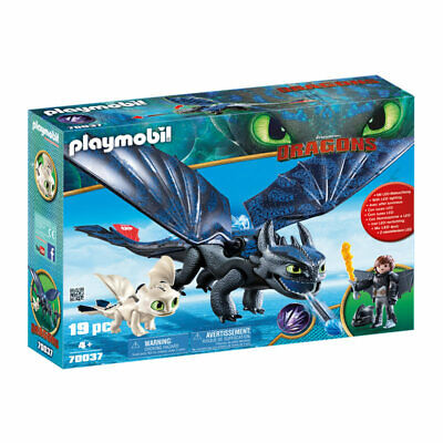 PLAYMOBIL Hiccup And Toothless With Baby Dragon - Dragons 70037 • 29.95£