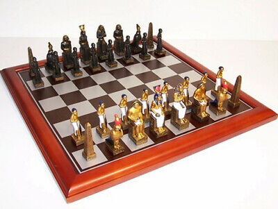 NEW IN BOX Veronese Egyptian Cast Resin Chess Pieces - Board NOT Included • 82.75£