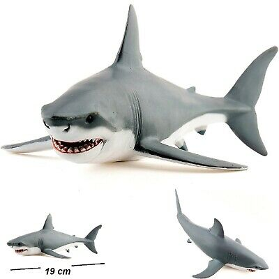 Great White Shark Bath Toy Kids Bathtime Painted Figurine Durable Toy Shark • 6.97£