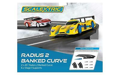 SCALEXTRIC Sport Track C8296 2x Banked Curve Rad2 • 12.99£