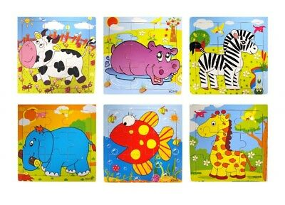 Wooden 15cm Animal Jigsaw Puzzle - 9 Pieces • 1.85£