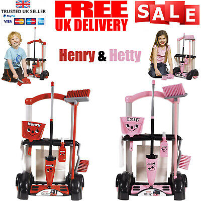 Henry Hetty Cleaning Trolley Vacuum Cleaner Hoover Casdon Kids Fun Role Play Toy • 25.99£