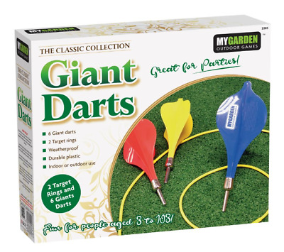 Giant Darts Hit The Target Garden Game Family Summer Fun For Kids And Adults  • 11.99£