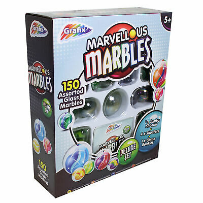 150+ Amazing Traditional Glass Marbles Toy Set & Instructions Mixed Sizes 160366 • 5.95£
